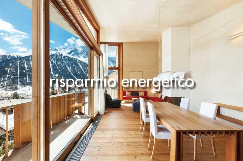 vantaggi del legno: risparmio energetico