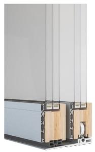 Sintesi 100 Slide alzante scorrevole legno alluminio lato esterno