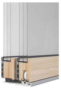 Sintesi 100 Slide alzante scorrevole legno alluminio lato interno