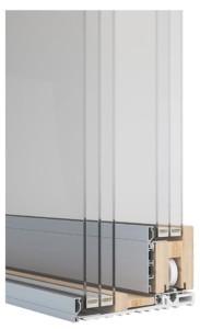 Sintesi 100 Slide alzante scorrevole legno alluminio vetro a terra lato esterno
