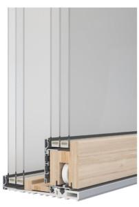 Sintesi 100 Slide alzante scorrevole legno alluminio vetro a terra lato interno