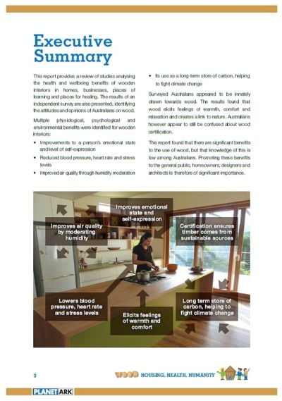 benessere psicologico del legno