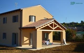 Serramenti in legno per casa passiva di Susegana -Treviso - Veneto - 2