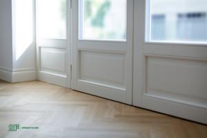Villa liberty contemporanea - serramenti in legno laccato bianco - 5