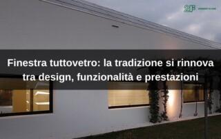 Finestra tuttovetro di 2F - serramenti in legno Vicenza