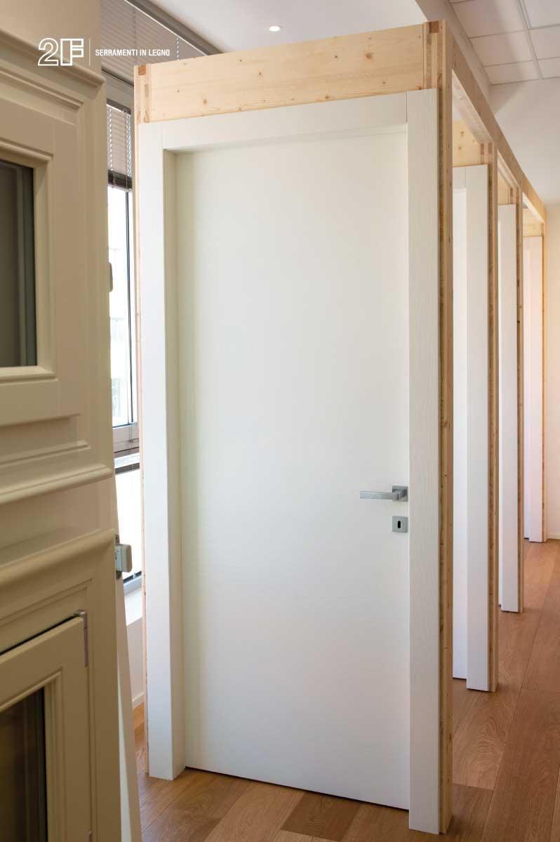 porte interne in legno, lo showroom