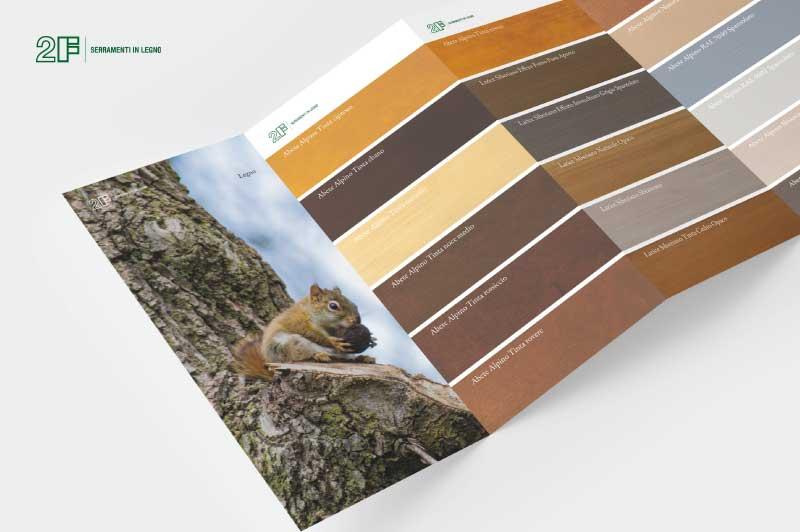 cartella colori legno