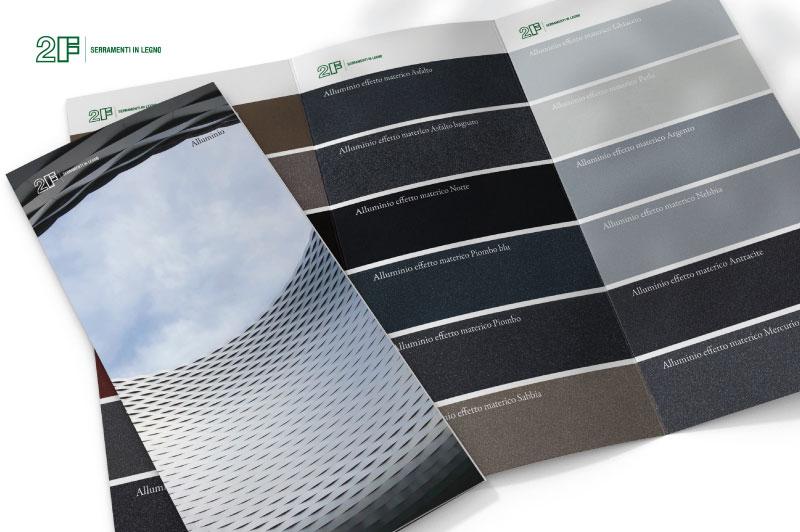 cartella colori alluminio