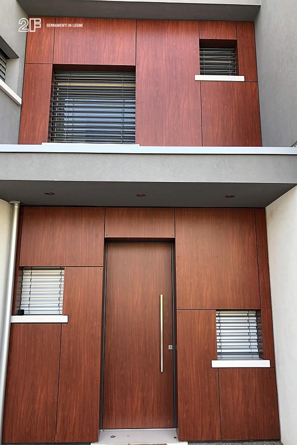 Abitazione moderna con giardino a Costabissara (Vicenza) - serramenti in legno Clima 80 di 2F - 9