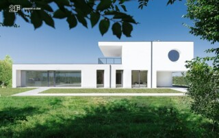 villa privata con grandi vetrate - serramento legno-alluminio 2F - 1