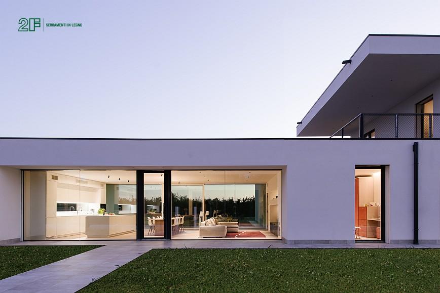 villa privata con grandi vetrate - serramento legno-alluminio 2F - 3