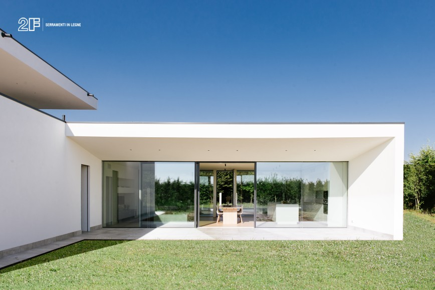 villa privata con grandi vetrate - serramento legno-alluminio 2F - 4