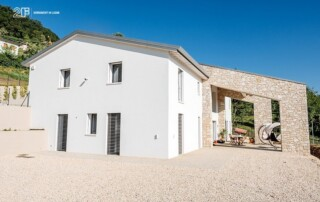 Serramenti legno-alluminio rasomuro 2F per una villa privata di Montecchio Maggiore (VI) - 7
